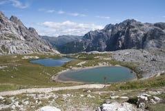 Laghi e montagna Immagine Stock
