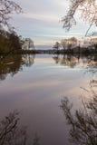 Laghi Earlswood su una mattina di inverni Fotografia Stock Libera da Diritti