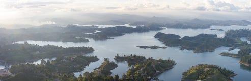 Laghi ed isole a Guatape in Antioquia, Colombia Fotografia Stock