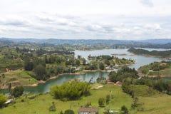 Laghi ed isole a Guatape in Antioquia, Colombia Immagini Stock
