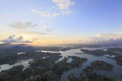 Laghi ed isole a Guatape in Antioquia, Colombia Immagine Stock Libera da Diritti