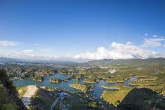 Laghi ed isole a Guatape in Antioquia, Colombia Fotografia Stock Libera da Diritti