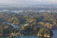 Laghi ed isole a Guatape in Antioquia, Colombia Immagine Stock