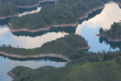 Laghi ed isole a Guatape in Antioquia, Colombia Immagini Stock Libere da Diritti