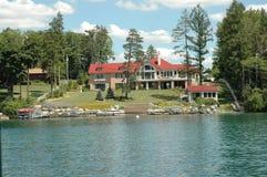 Laghi finger - palazzo del Lake-front di Skaneateles Immagini Stock Libere da Diritti