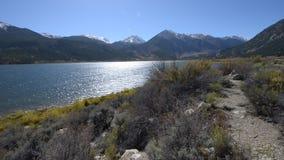 Laghi gemellati Colorado Sunny Day stock footage