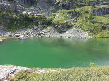Laghi Karakol in montagne 2014 di Altai Fotografie Stock