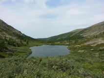 Laghi Karakol in montagne 2014 di Altai Fotografia Stock Libera da Diritti