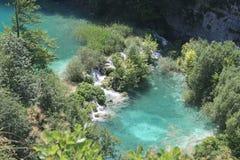 Laghi Plitvice, Croazia (vista stupefacente del parco nazionale) Fotografia Stock Libera da Diritti
