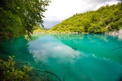Laghi Plitvice del turchese Fotografie Stock Libere da Diritti