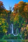 Laghi Plitvice della Croazia - parco nazionale in autunno Immagini Stock Libere da Diritti