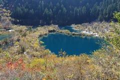 Laghi Shuzheng in Jiuzhaigou immagine stock