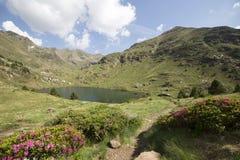 Laghi Tristaina in Pirenei, Andorra immagine stock