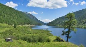 Laghi Ulagan Montagne di Altai, Siberia La Russia Fotografia Stock