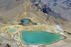Laghi verde smeraldo, Nuova Zelanda Fotografia Stock