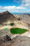 Laghi verde smeraldo, Nuova Zelanda Fotografia Stock Libera da Diritti