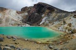 Laghi verde smeraldo, sosta nazionale di Tongariro Fotografie Stock Libere da Diritti