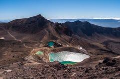 Laghi verde smeraldo, sosta nazionale di Tongariro Immagini Stock