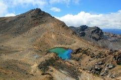 Laghi verde smeraldo in Tongariro, NZ Immagini Stock Libere da Diritti