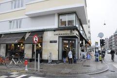 Lagkagenhuset_chain面包店 免版税库存图片