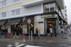 Lagkagenhuset_chain面包店 免版税库存照片