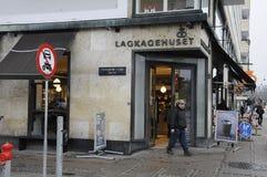 Lagkagenhuset_chain bageri Arkivbilder
