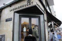Lagkagenhuset_chainbakkerij Stock Afbeelding
