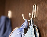Lagkrok i garderoben Royaltyfri Bild