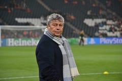 Lagledare av FC Shakhtar Mircea Lucescu Arkivfoto