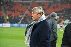 Lagledare av FC Shakhtar Mircea Lucescu Royaltyfri Foto