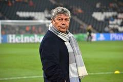 Lagledare av FC Shakhtar Mircea Lucescu Fotografering för Bildbyråer