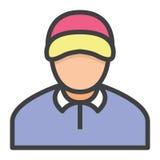 Lagledare för affärsman royaltyfri illustrationer