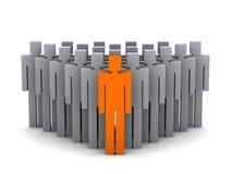 Team ledare. Företaget basar. Teamwork. stock illustrationer