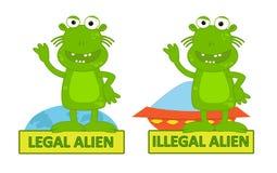 Laglig illegal invandrare vektor illustrationer