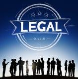 Laglig Legalisationlagrättvisa Ethical Concept Arkivbilder