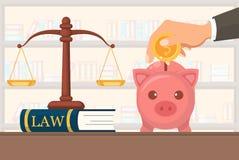 Laglig service för plan vektorillustrationbetalning royaltyfri illustrationer