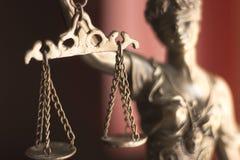 Laglig staty Themis för lagkontor Royaltyfria Bilder
