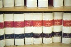 Lagliga böcker för advokatbyrå Royaltyfri Foto