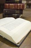 Lagliga böcker i rättssal royaltyfria bilder
