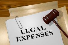Lagliga kostnader - lagligt begrepp royaltyfri illustrationer