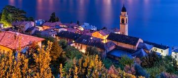 Laglio (Lago di Como) at blue hour Royalty Free Stock Photo