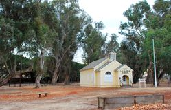 LaGloria School hus 1887 på historia av bevattningmuseet, konung City, Kalifornien Arkivbild