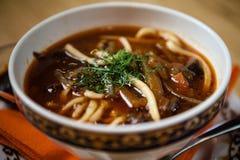 Lagman汤用肉 免版税库存图片