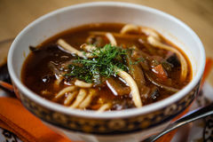 Lagman soup with meat Royalty Free Stock Images
