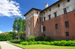 Lagnasco medieval castle, Piemonte, Italy Stock Photo