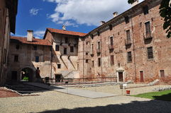 Lagnasco medieval castle, Piemonte, Italy Royalty Free Stock Images