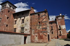 Lagnasco medieval castle, Piemonte, Italy Stock Photo