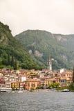 Lago二科莫-瓦伦纳,意大利风景  库存照片