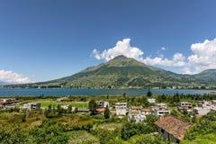 Lago圣巴勃罗,厄瓜多尔 免版税库存照片