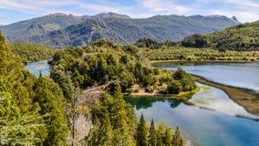 Lago赫嫩德斯, Alerces国家公园,阿根廷 免版税库存照片